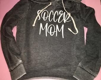 Soccer mom sweatshirt / vintage soccer sweater / hooded soccer sweatshirt / unique soccer hoodie / sports mom sweatshirts / sports mom
