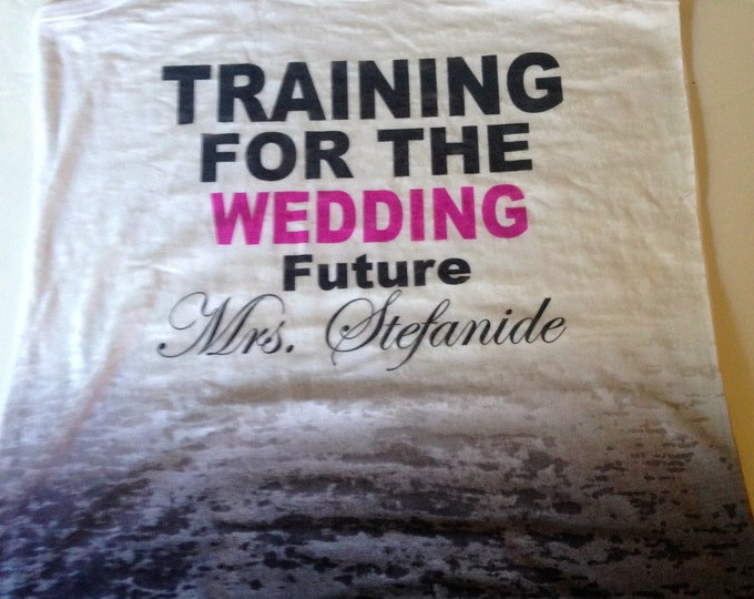 Future Mrs Tank Top . Bride to Be Shirt . Wedding Shower Gift . bridal shower gift ideas.  training for the wedding burnout tank top .