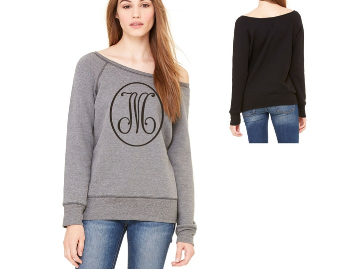 Cute womens initial sweatshirt , Womens monogram shirts , monogrammed gift , present for best friend , bridal party shirts, getting ready
