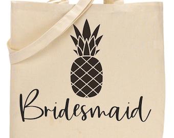 Bridesmaid tote bags / Bridesmaid gifts / Bridesmaid pineapple bag / Cute bridesmaid bags / canvas bridesmaid totes / large bridal party bag