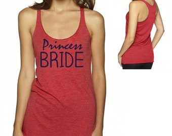 Princess Bride Tank Top , Fairy Tale , Bride Tank Tee , Bride loose , flowy , cute Shirt , Bride Tank - small , medium , large , xl , xxl