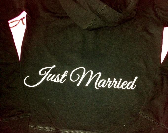 Misses Just married cotton Zip Up hoodie / Ladies Bridal Party hoodies / Wedding Party Zip Ups / Bridal Entourage / Maid of honor / Matron