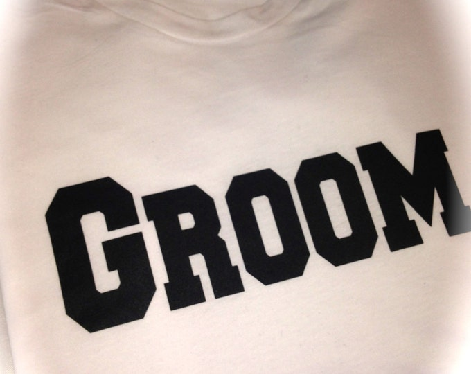 Groom Shirt. Groom Print T-shirt. Groomsmen Shirts. Bachelor Party t-shirts. Wedding Shirts. MR T-shirts. Black, Royal Blue, purple, White.