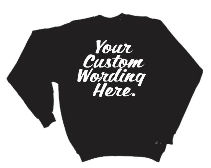 custom slouchy oversized sweatshirt- women's oversized sweatshirt- Bridal party sweatshirts- custom script writing.