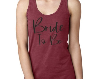 Bride Party Tank Top - Bride Shirt - Bachelorette tshirt - Bride Tee - Bride to Be cute shirt - bride racerback tank top