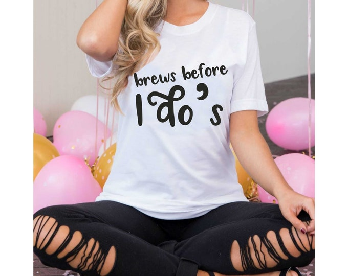Brews before i do's bachelorette shirt , Cute bachelorette party shirts , beer drinking shirts, bride shirt , bridesmaid t-shirts , bach