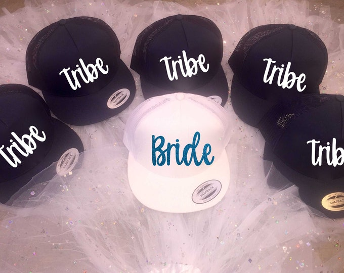 bachelorette hats - bridesmaid hats - tribe bridesmaid nautical Hat  - tribe anchor hat- bridal party hats- bride, maid of honor, matron .