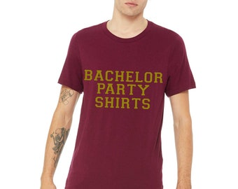 Set of 7 Bachelor Party t-shirts. Group of Groomsmen Shirts. Set of 7 Wedding Shirts. Groom Print T-shirt. Groomsmen Shirt. MR T-shirts.