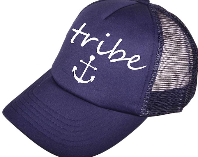 bachelorette hats - bridesmaid hats - tribe bridesmaid nautical Hat  - tribe anchor hat- bridal party hats- bride, maid of honor, matron .