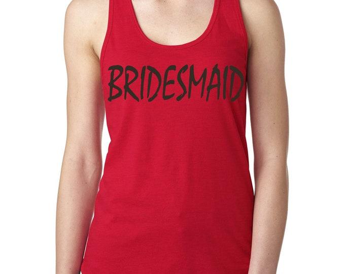 Bridesmaid tank top . Bridal Party Shirts . Wedding party t-shirt . Bridesmaid tees - red, purple, aqua, green, maroon, aqua blue, yellow
