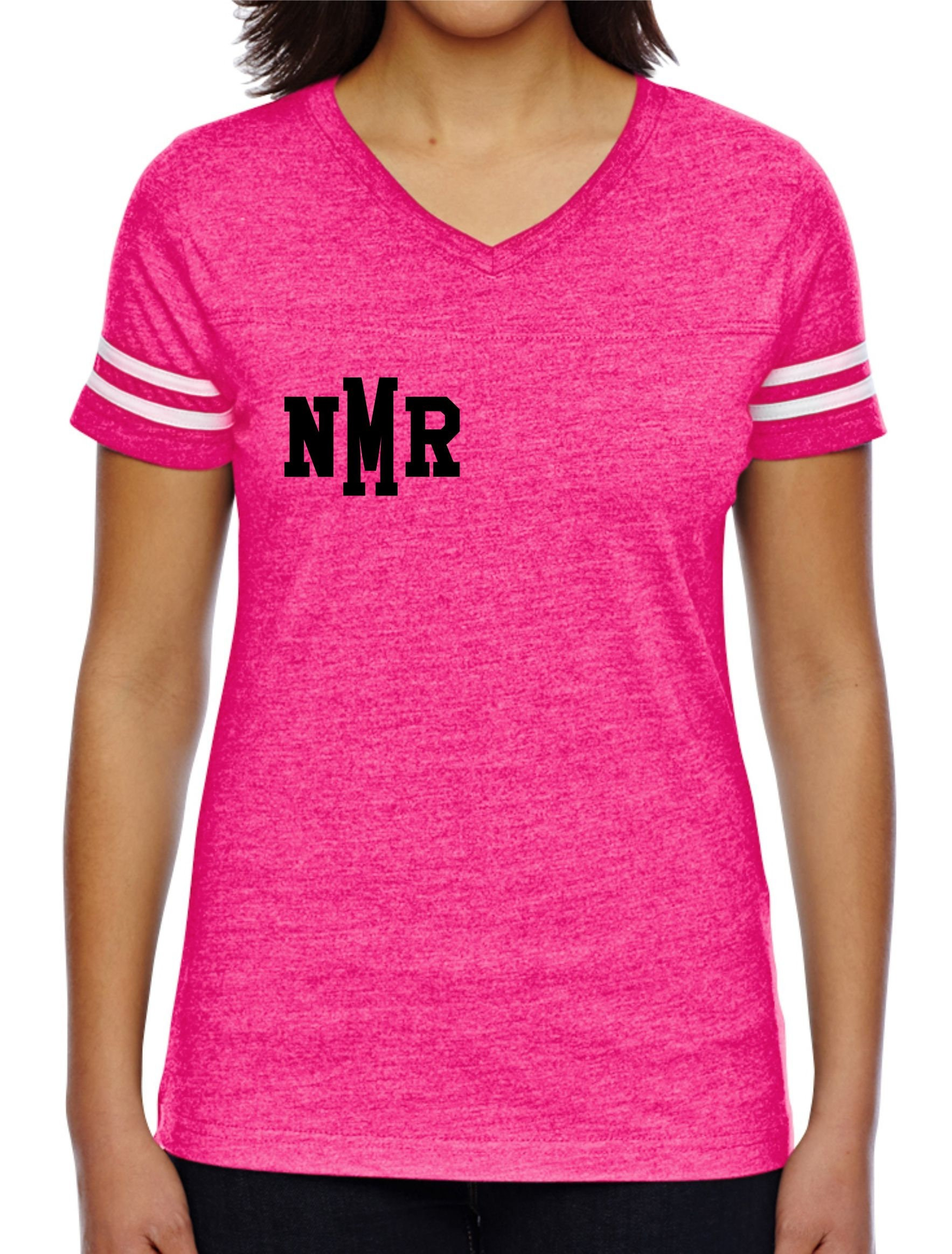 Monogrammed three letter shirt , breast cancer colors awareness ...