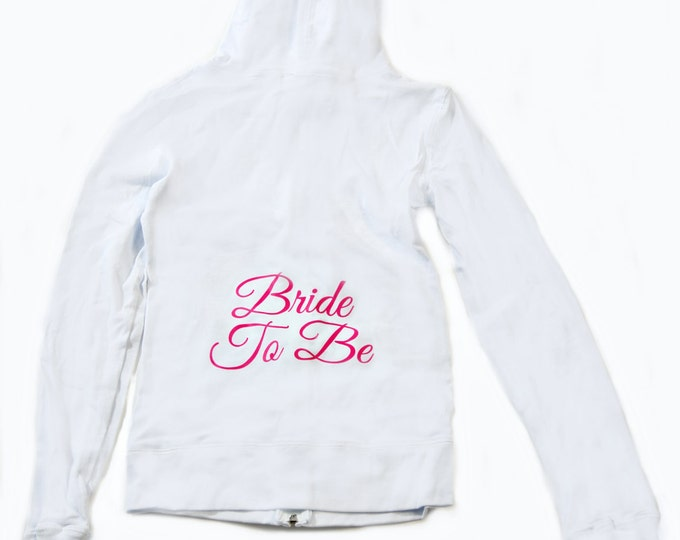 Bride To Be Fitted hoodie.  Bride Light Weight  hoodie.  Future Mrs Black ink white hoodie. small, medium, large, 1X, XXL, XXXL, 2x 3x