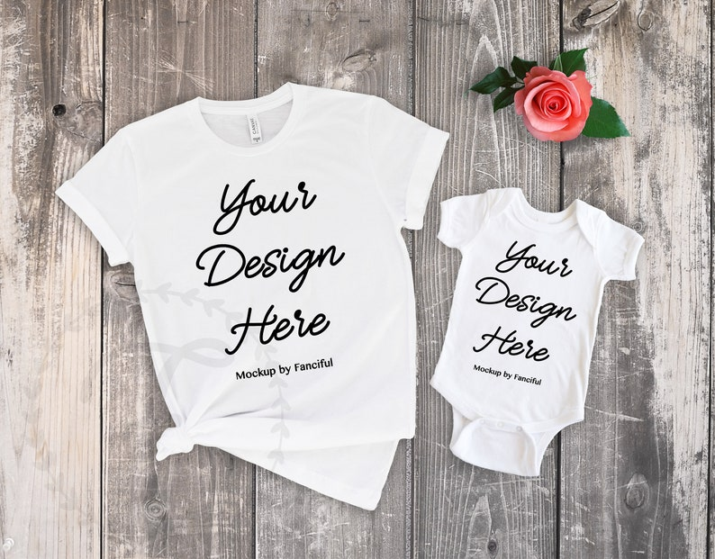 e9b8af2f7f460 Mom shirt Flat Lay Shirt White Shirt Bodysuit Mockup Bella Canvas 3001  Outfit Scene Flatlay TShirt Product Photography Shirt Designs