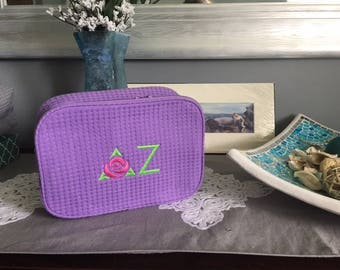 Delta Zeta Large cosmetic case, officially Licensed