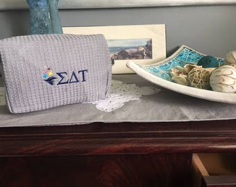 Sigma Delta Tau, Officially Licensed Waffle weave cosmetic case