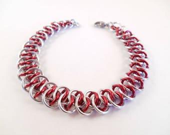 Anodized Shenanigans Bracelet - Anodized Aluminum Shenanigans Chain Maille Bracelet