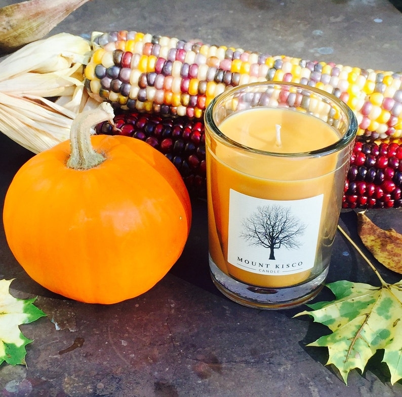 ORANGE Pumpkin Harvest Soy MAGIC CANDLE