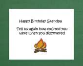 Happy Birthday Grandpa Cards Funny Humor Caveman Science
