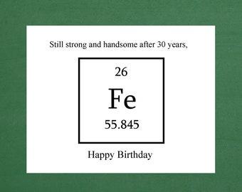 30th birthday card boyfriend etsy