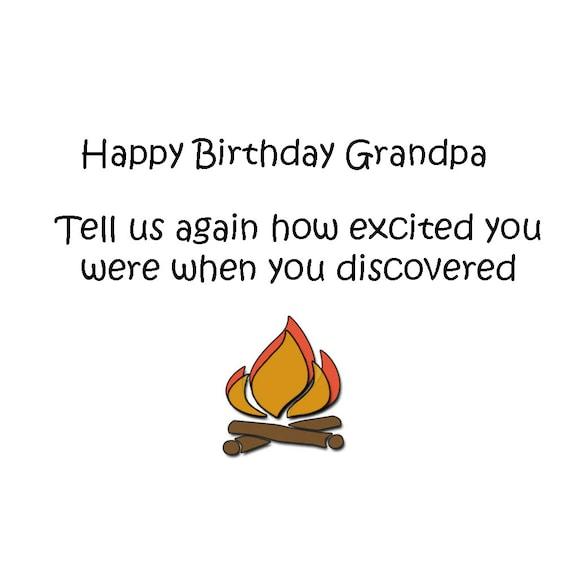 Happy Birthday Grandpa Birthday Cards Funny Birthday Humor Etsy