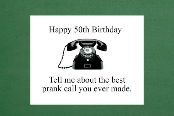 50th Birthday Card For Him