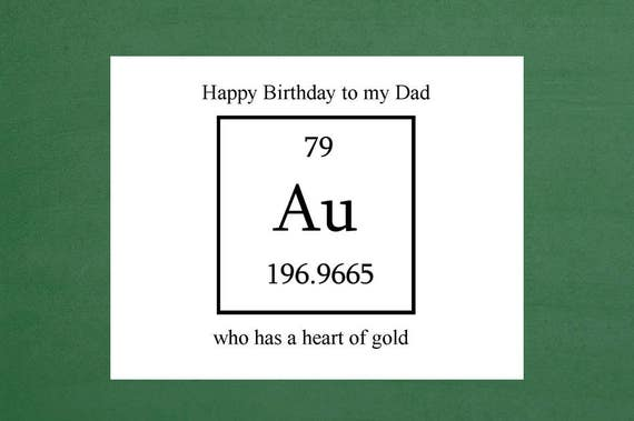 Heart Of Gold Happy Birthday Dad Dads Birthday Cards Father Etsy