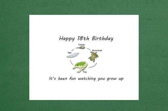 18th Birthday Card Boy 18th Birthday Sons 18th Etsy