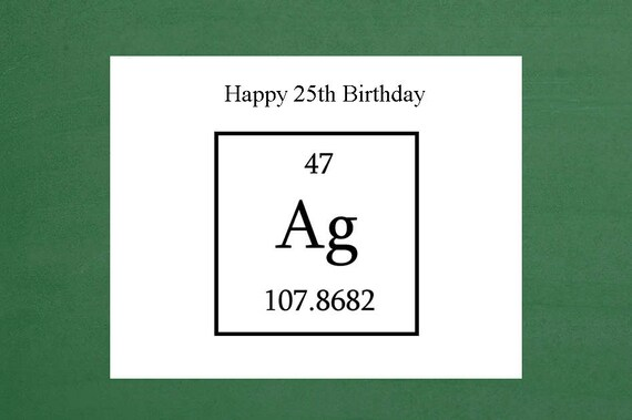 Happy 25th Silver Birthday Greeting Card Milestone Birthday Etsy