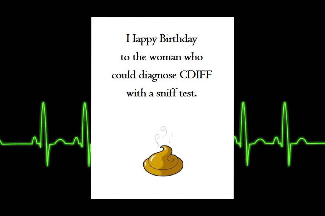 Funny Happy Birthday Card Healthcare Nursing Greeting Cards