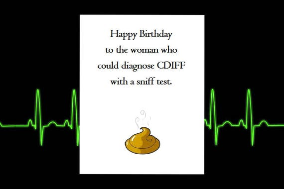 Funny Happy Birthday Card Healthcare Nursing Greeting Cards