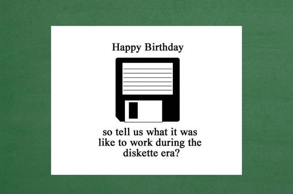 Happy Birthday Vintage Computer 40th Birthday Cards 45th Etsy