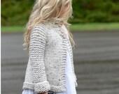 KNITTING PATTERN-The Brink Sweater (2, 3/4, 5/6, 7/8, 9/10, 11/12, S, M, L sizes) photo