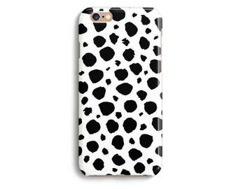 5e2e8f7daa13 Spots White Black Phone Case iPhone X 8 7 6s 6 Tough 6s Plus 5 5s SE  Samsung Galaxy S6 S7 Edge Handmade Charcoal Blackboard Illustration
