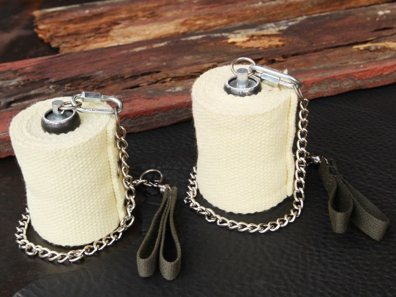"""Twisted Link Chain Fire Poi Ball Bearing 3/"""" Kevlar Wick Trick Concepts"""