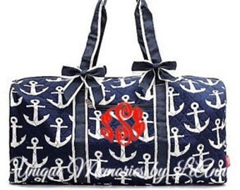 Anchor duffle bag quilted w detachable bows 14c37c8685fc1