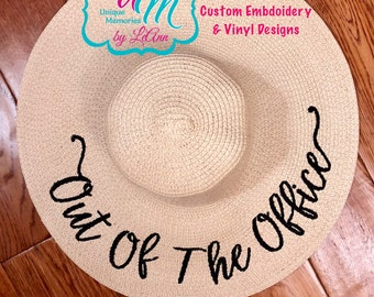 a108949705edb Out of the Office Embroidered floppy Beach Hat