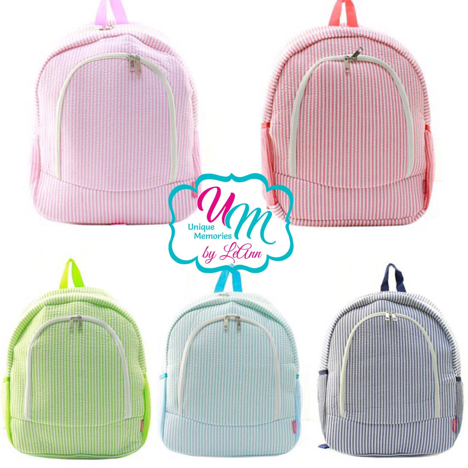 seersucker backpack ballet shoes applique with free name or monogram - school bag, large bookbag, children's backpack, quilt