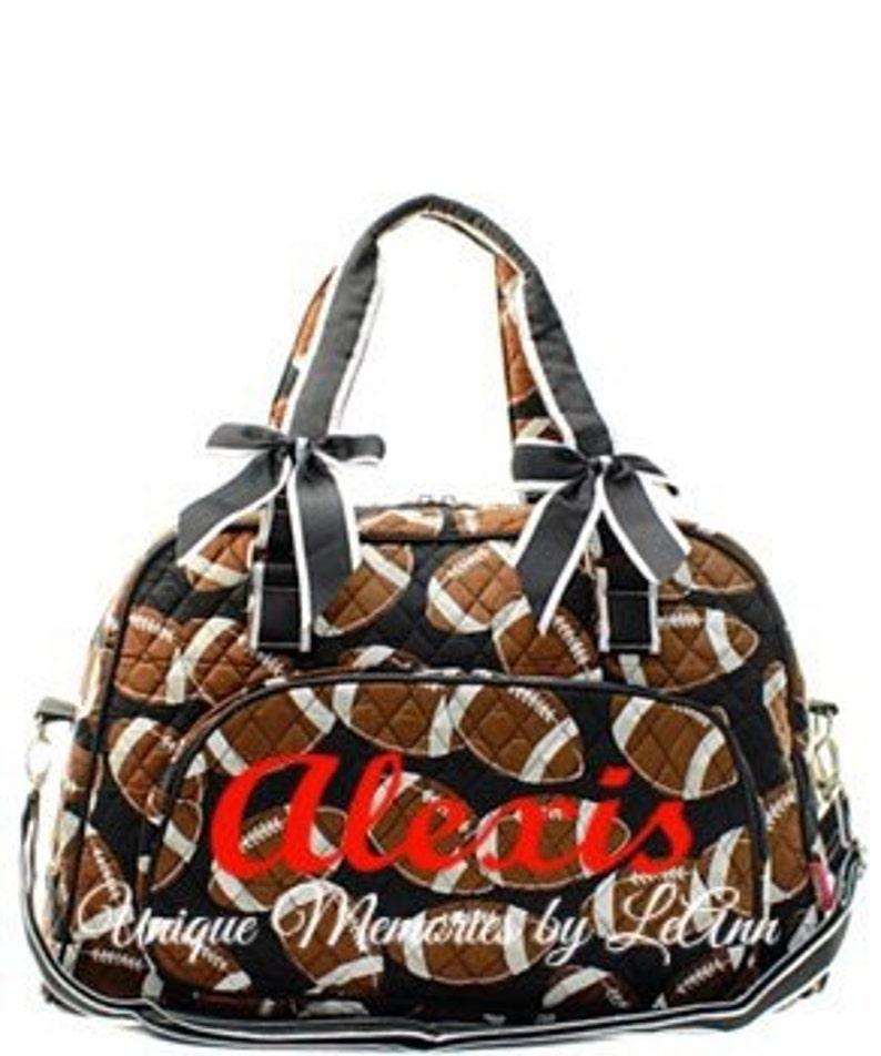 5b45810965 Sports duffle bag quilted w detachable bows FREE Monogram Name