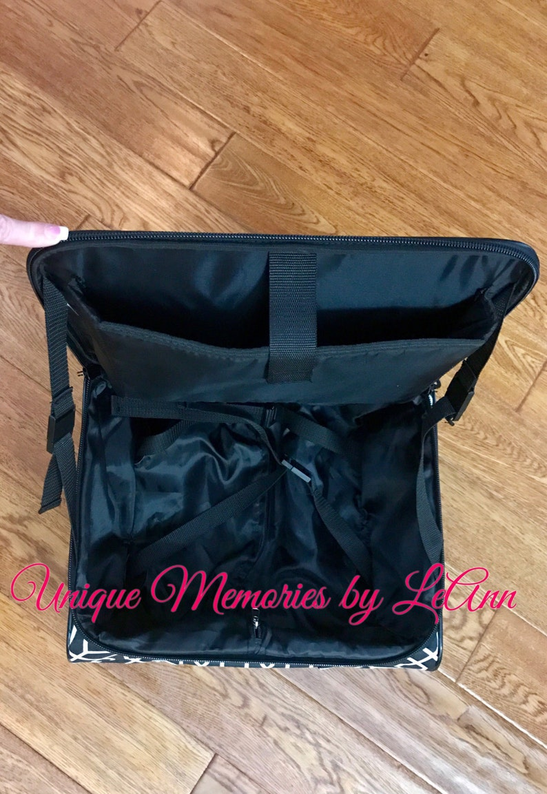 Geometric laptop caseWeekender rolling luggage carry on bag Personalized with FREE name or monogram Travel Gift Graduates Business