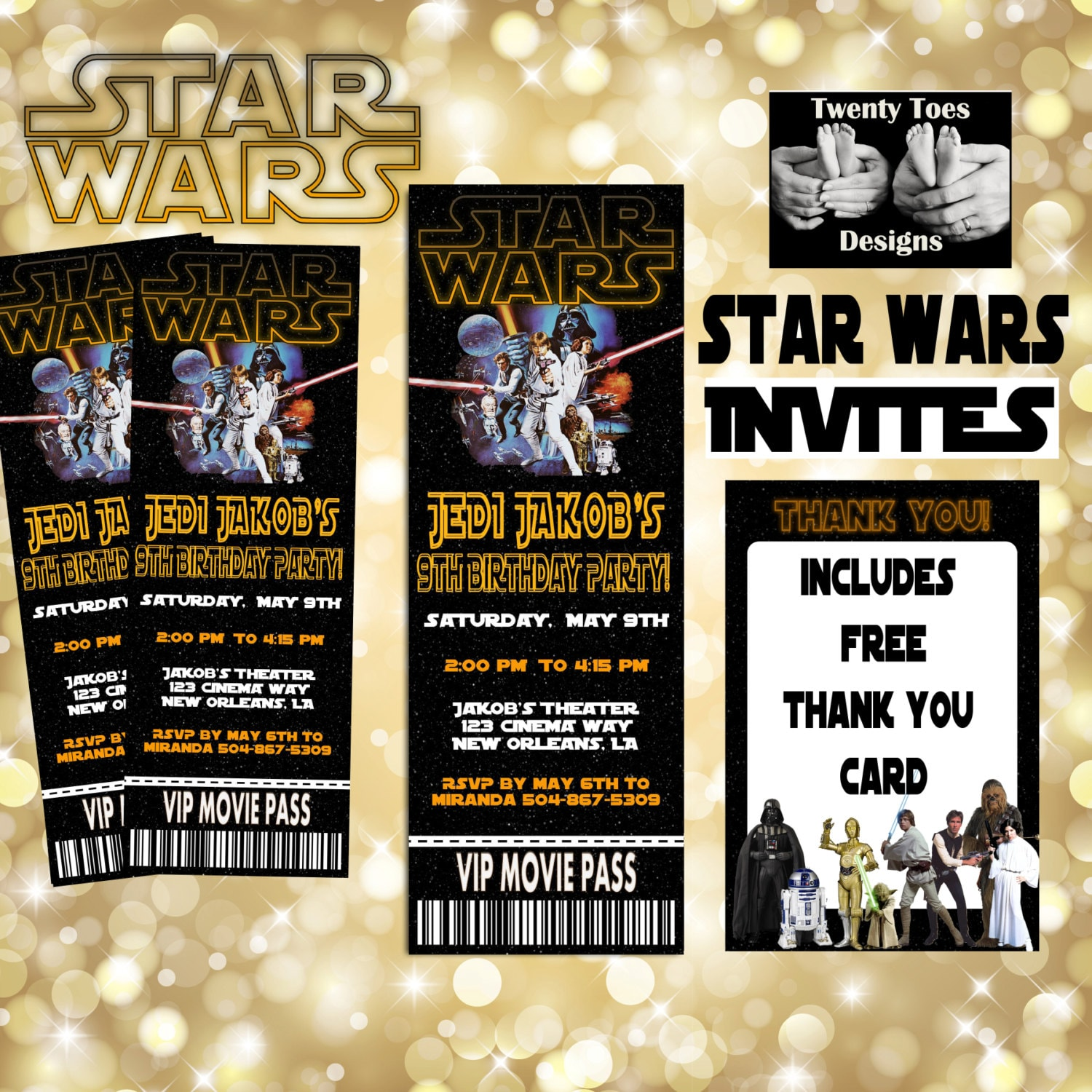 photograph relating to Star Wars Thank You Cards Printable Free known as Star Wars Online video Invitation, Video Ticket, Printable, Video clip Social gathering Birthday Invitation
