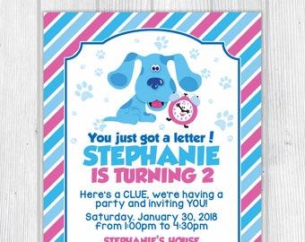 Blue's Clues Birthday Invitation