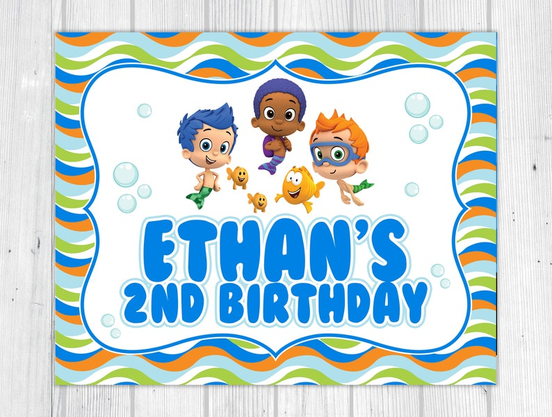 picture about Bubble Guppies Printable named Electronic: Bubble Guppies Printable Social gathering Indication