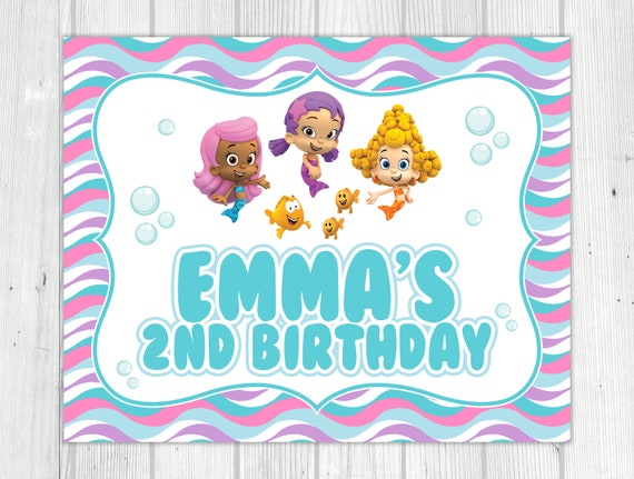 photograph about Bubble Guppies Printable identified as Electronic: Bubble Guppies Printable Get together Indication through Tiny