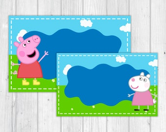 Peppa Pig and Friends Food Tents or Labels