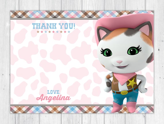 image relating to Sheriff Callie Printable titled Sheriff Callie Printable Thank By yourself Card