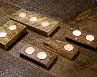 Tea Light Wood Candle Holder
