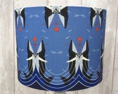 Charley Harper Retro Whales Fabric Covered Lampshade