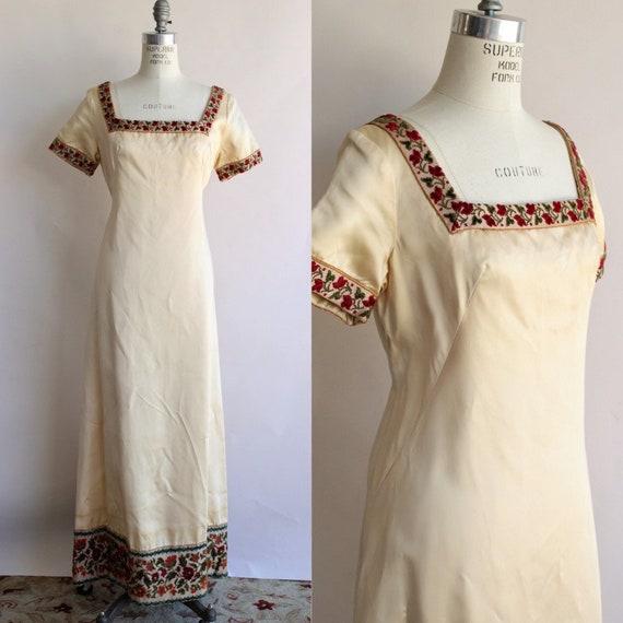 Vintage 1960s Dress / Emma Domb Ivory Champagne Go