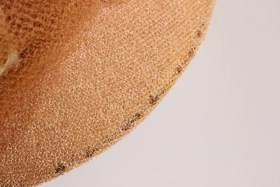 Vintage 1930s Hat / Blush Wide Brimmed Hat with N… - image 9