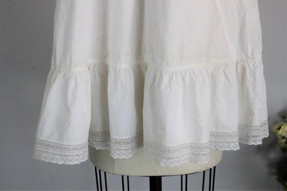 Vintage 1910er Jahre Babys Weiß Baumwolle Taufe Kleid Bestickt Hausgemachte Taufe Kleid